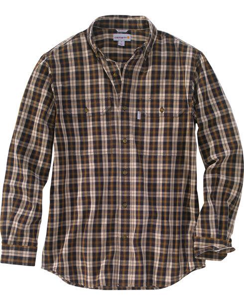 Carhartt Men's Black Fort Long-Sleeve Plaid Shirt , Black, hi-res