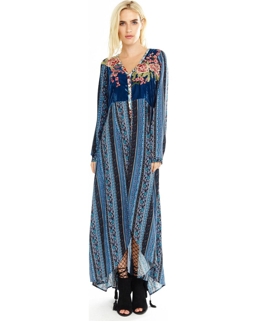 Aratta Women's Your Majesty Maxi Dress , Blue, hi-res