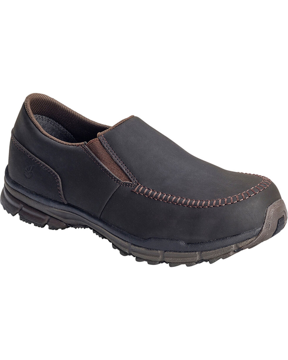 Nautilus Men's ESD Slip On Casual Shoes - Steel Toe , Brown, hi-res