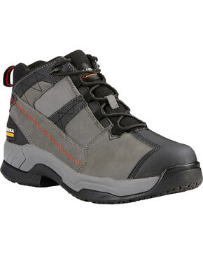 Ariat Men's Grey Contender Work Boots - Soft Toe, Grey, hi-res