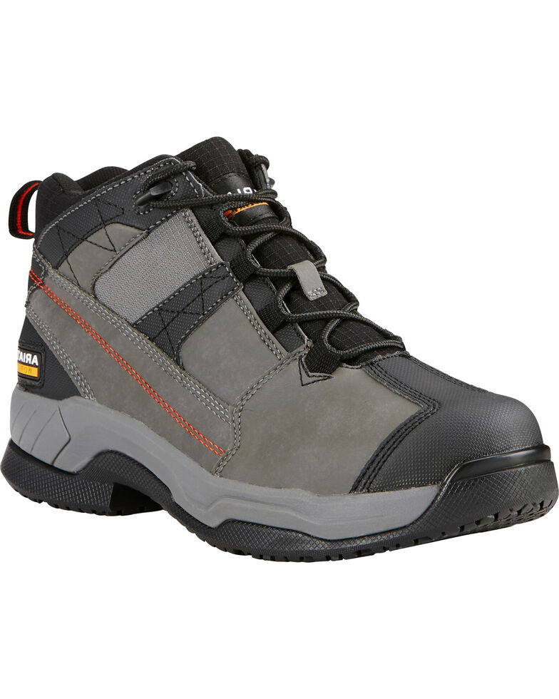 Ariat Men's Grey Contender Work Shoes - Soft Toe, Grey, hi-res