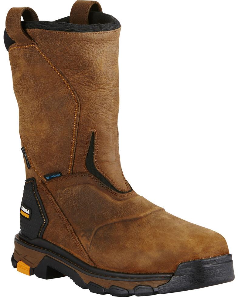 Ariat Men's Brown Intrepid Waterproof Work Boots - Composite Toe , Brown, hi-res