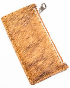 Shyanne Women's Bryndle Hair On Brown Slim Credit Card Wallet , Brown, hi-res