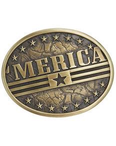 Cody James Men's 'Merica Flag Buckle, Bronze, hi-res