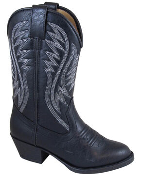 Smoky Mountain Girls' Mesquite Western Boots - Round Toe, Black, hi-res