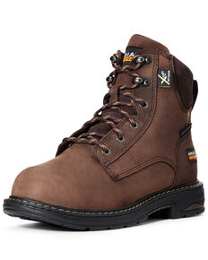 Ariat Women's Casey Metguard Work Boots - Composite Toe, Brown, hi-res