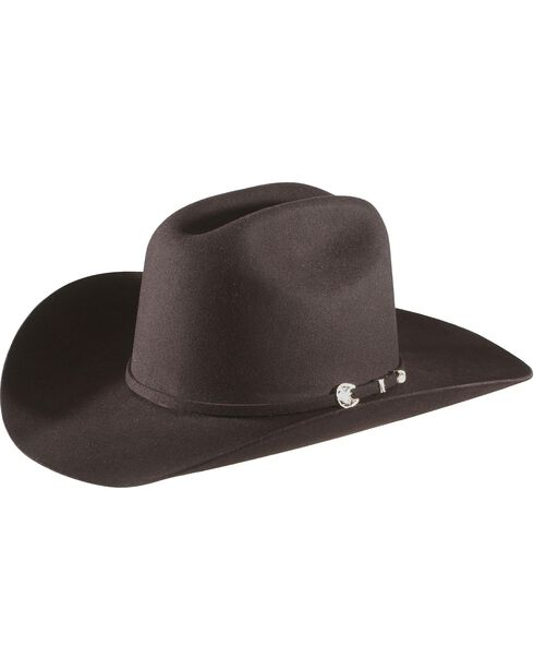 Stetson 4X Corral Buffalo Felt Hat, Black, hi-res