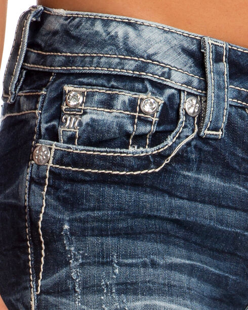 Miss Me Women's Main Stage Mid-Rise Slim Jeans, Indigo, hi-res