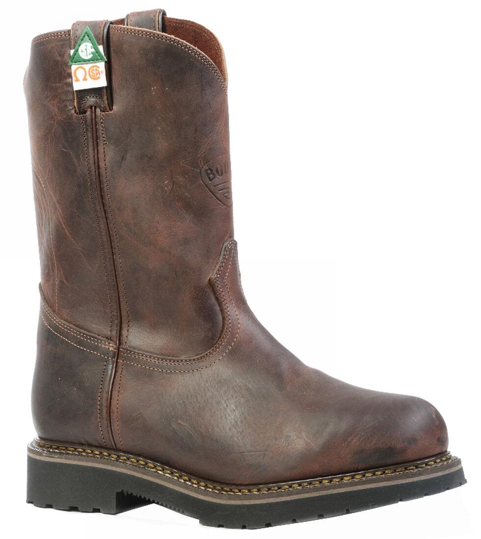 Boulet Laid Back Copper Western Work Boots - Steel Toe, Copper, hi-res