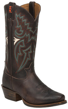 Tony Lama Chocolate Frio 3R Western Cowboy Boots - Snip Toe , Chocolate, hi-res