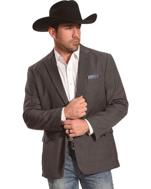 Circle S Men's Platinum Western Sports Coat, Grey, hi-res