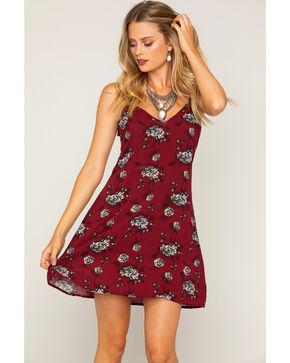 Shyanne Women's Rose Patterned Shift Dress, Rust Copper, hi-res