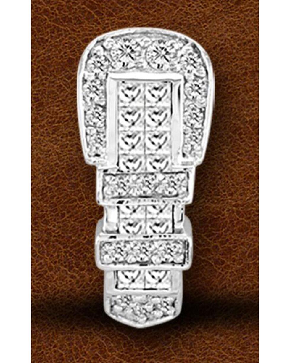 Kelly Herd Sterling Silver Rhinestone Encrusted Buckle Pendant, Silver, hi-res