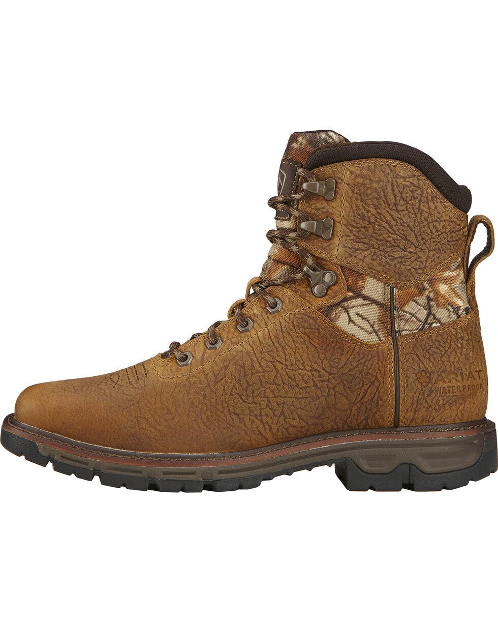 "Ariat Men's 6"" Conquest Waterproof Boots, Brown, hi-res"