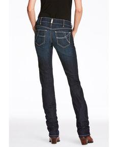 Ariat Women's Splash Supernova Mid Rise Straight Jeans , Medium Blue, hi-res