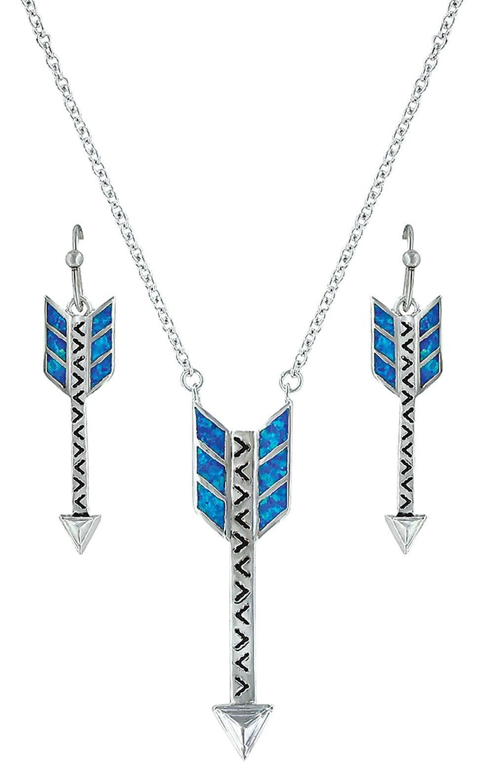 Montana Silversmiths Sky Fletched Arrow Jewelry Set , Silver, hi-res