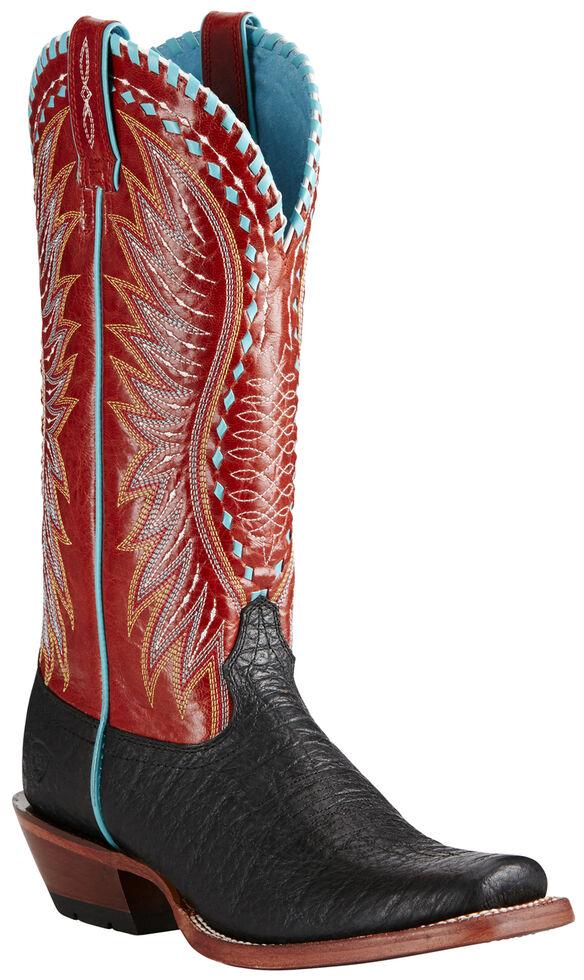 Ariat Women's Black Derby Boots - Square Toe, Black, hi-res