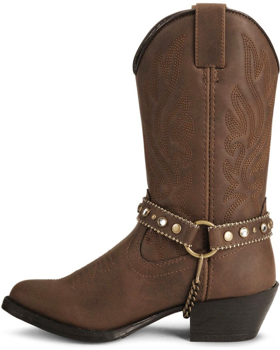 Smoky Mountain Girls' Charleston Cowboy Boots, Distressed, hi-res