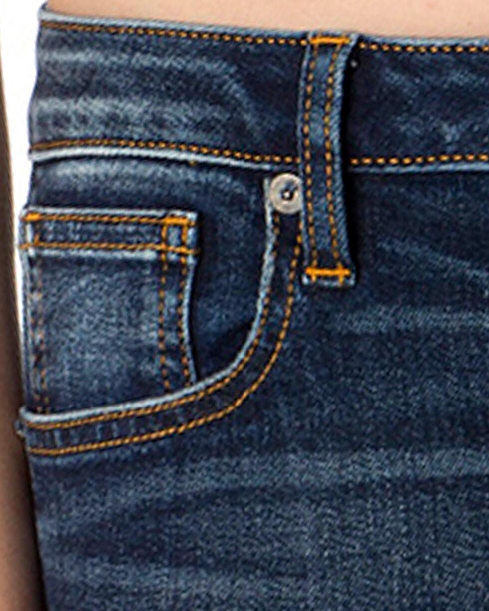 Miss Me Women's Fresh Fleur Slim Boot Cut Jeans , Indigo, hi-res