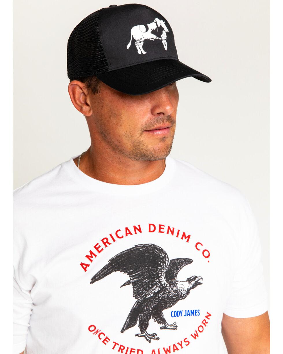 Cody James Men's Bucking Bull Trucker Hat, Black, hi-res