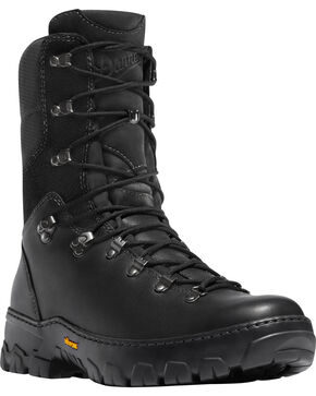 "Danner Men's Black Wildland Tactical Firefighter 8"" Boots - Round Toe, Brown, hi-res"