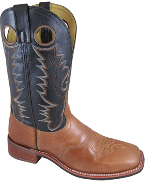 Smoky Mountain Men's Black Ryan Western Boots - Square Toe , Tan, hi-res