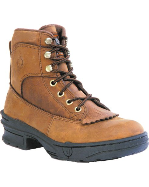Roper Men's Crossrider Kiltie HorseShoes - Round Toe, Rocky Brn, hi-res