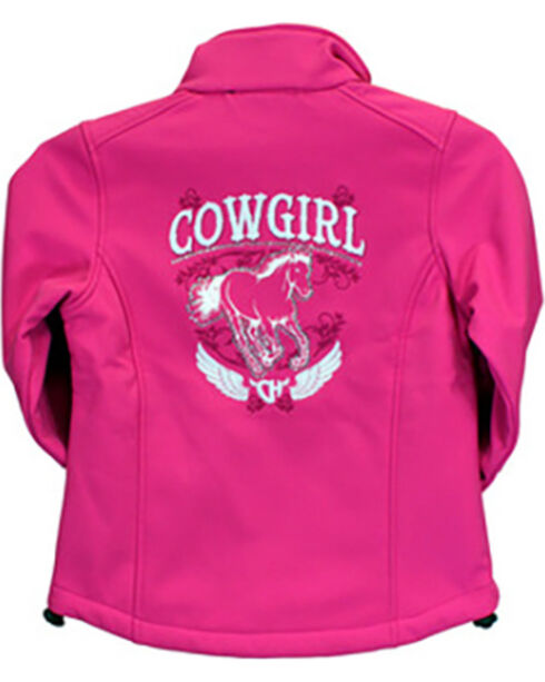 Cowgirl Hardware Toddler Girls' Cowgirl Horse Jacket, Pink, hi-res