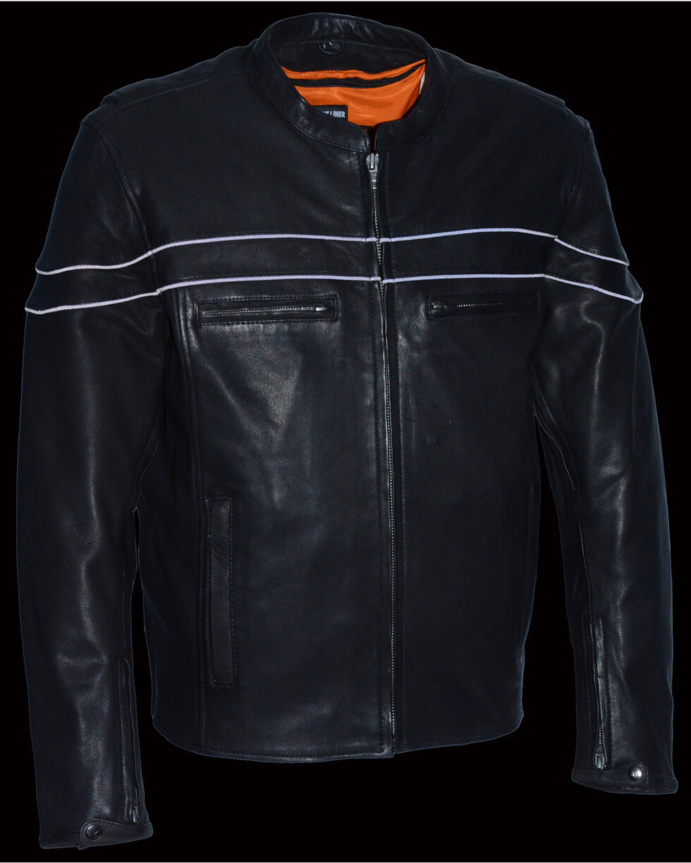 Milwaukee Leather Men's Lightweight Sporty Scooter Crossover Jacket - 5X, Black, hi-res