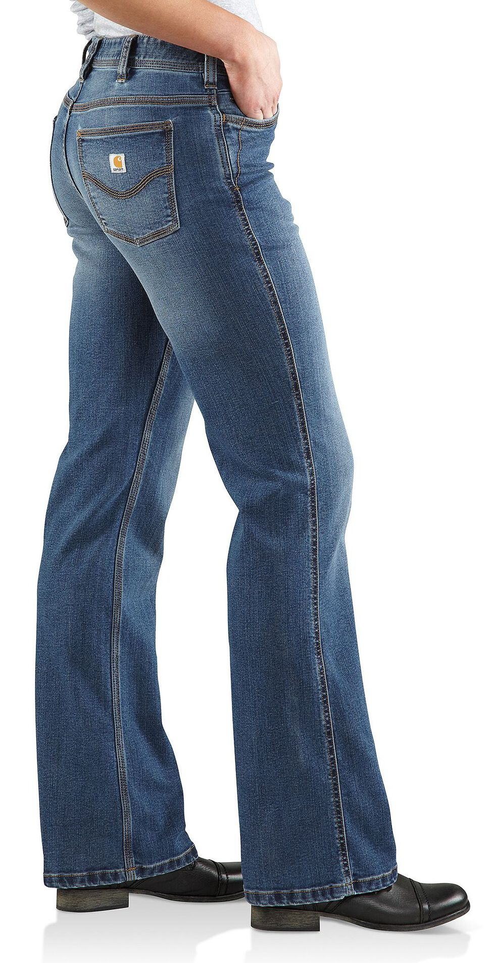 Carhartt Women's Original Fit Denim Jasper Jeans, Med Indigo, hi-res