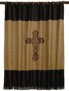 Crosses Shower Curtain, Multi, hi-res