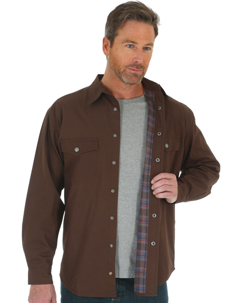 Wrangler Men s RIGGS Workwear Flannel Lined Ripstop Shirt Jacket - Big    Tall  bbcab0bf0