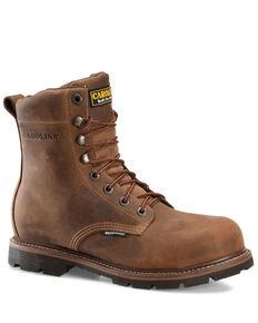 Carolina Men's Installer Waterproof Work Boots - Soft Toe, Brown, hi-res