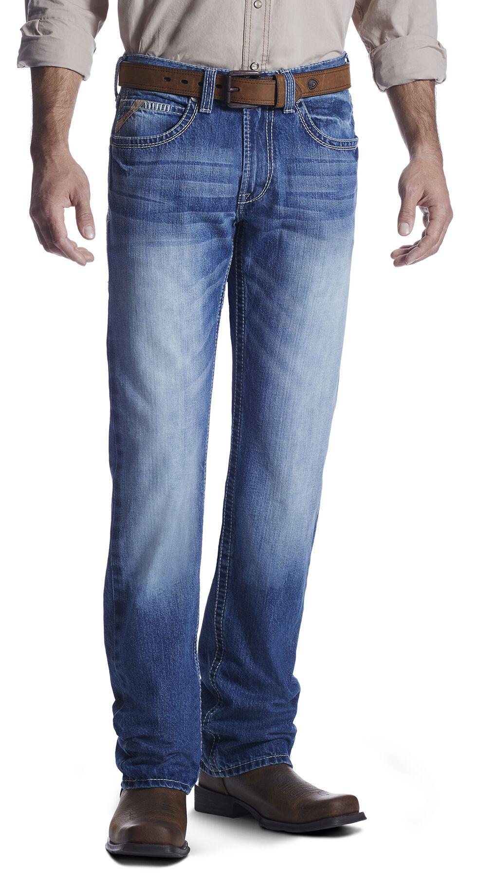 Ariat Men's M5 Rogue Dakota Straight Leg Jeans, Med Blue, hi-res