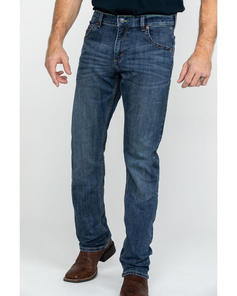 Wrangler Retro Men's Medium Stretch Bootcut Jeans , Blue, hi-res