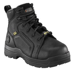 "Rockport Women's More Energy Black 6"" Lace-Up Work Boots - Composite Toe, Black, hi-res"