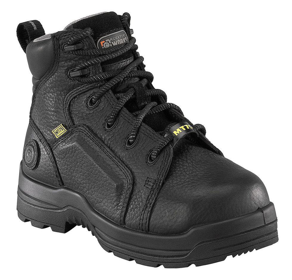 "Rockport Women's More Energy Black 6"" Lace-Up Work Boots - Composite Toe, Black, hi-res"