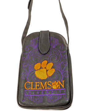 Gameday Boots Clemson University Crossbody Bag, Black, hi-res