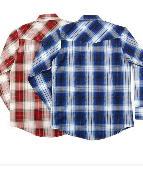 Ely Cattleman Boys' Assorted Textured Plaid Shirt, Multi, hi-res