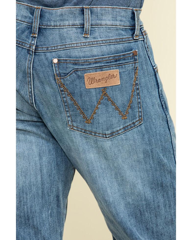 Wrangler Retro Men's Kingston Light Stretch Relaxed Bootcut Jeans , Blue, hi-res