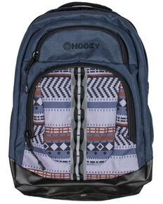 HOOey Ox Aztec Denim Backpack, Medium Blue, hi-res