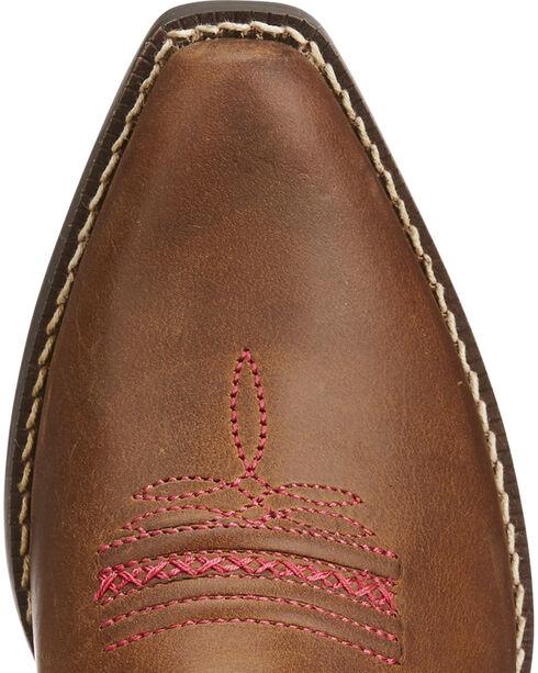 Ariat Girls' Brown Desert Diva Leather Boots - Snip Toe , Brown, hi-res