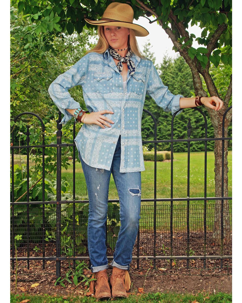 Tasha Polizzi Women's Blue Eden Shirt , Blue, hi-res