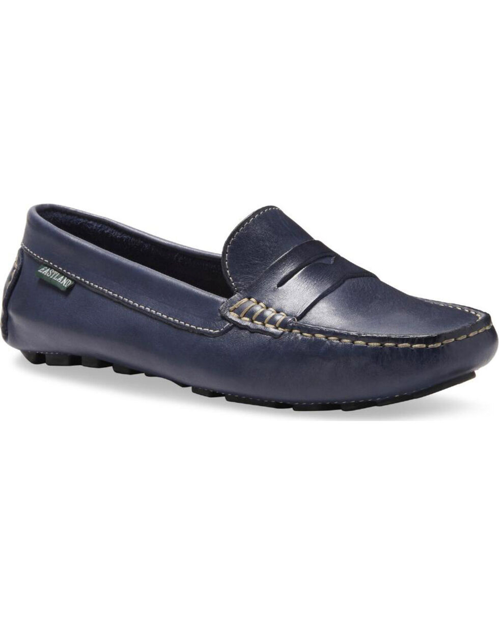 Eastland Women's Navy Patricia Penny Loafers , Navy, hi-res