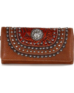 Shyanne Women's Lonestar Studded Wallet, , hi-res