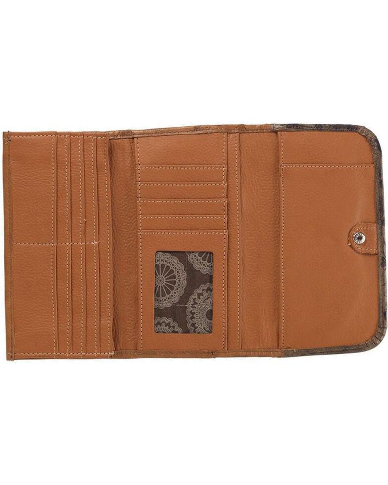 American West Women's Saddle Ridge Tri-Fold Wallet , Rust Copper, hi-res