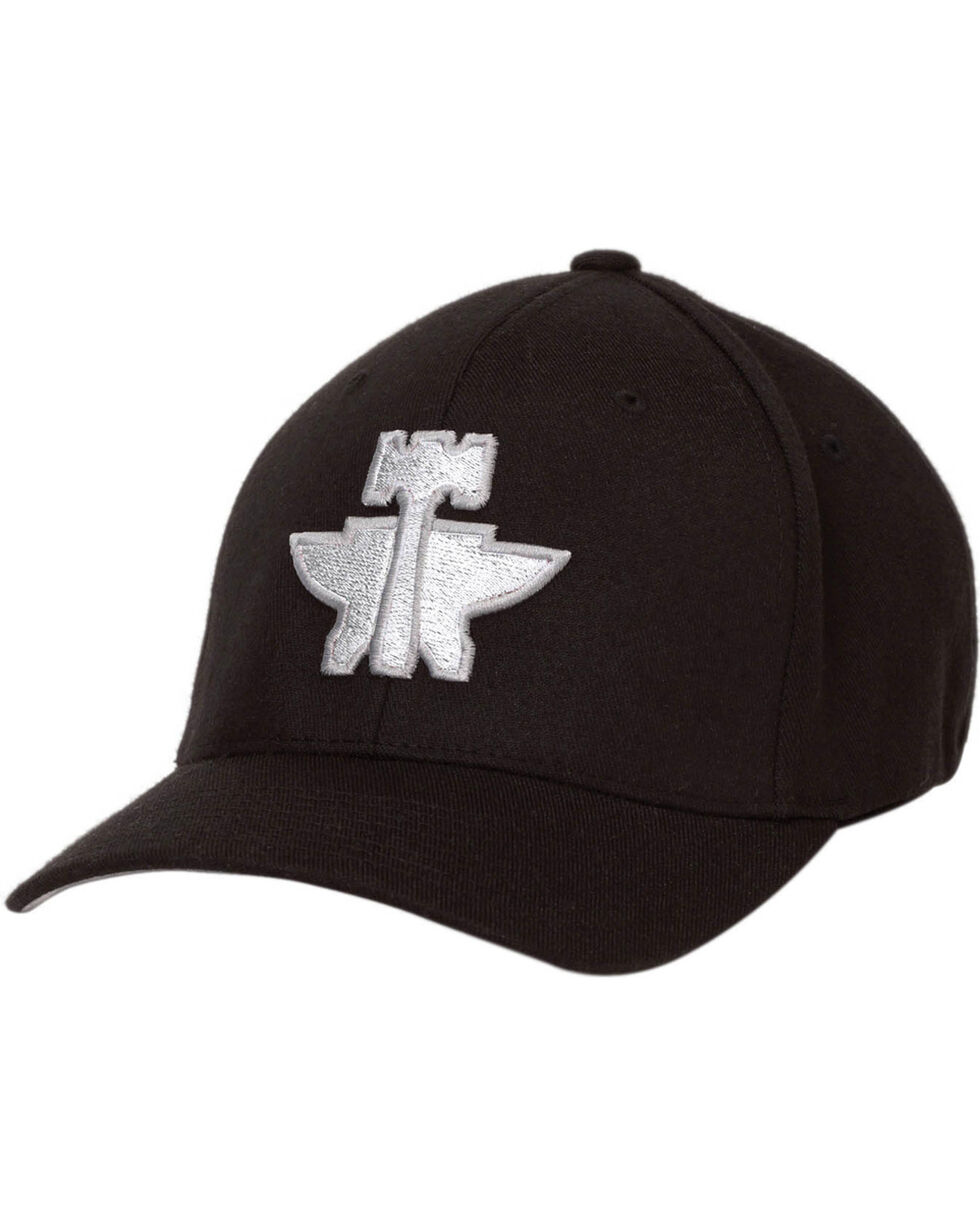 Tin Haul Men's Black Flex Fit 3D Anvil Hammer Baseball Cap , Black, hi-res