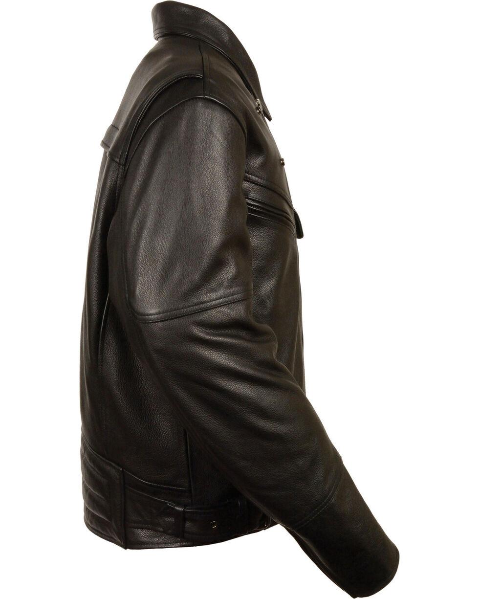 Milwaukee Leather Men's Side Set Belt Utility Pocket Motorcycle Jacket - 5X, Black, hi-res