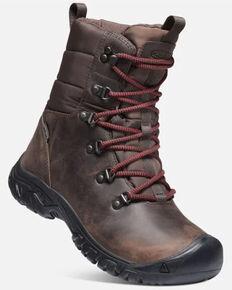Keen Women's Greta Waterproof Hiking Boots - Soft Toe, Chestnut, hi-res