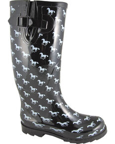 Smoky Mountain Women's Ponies Waterproof Boots, Black, hi-res